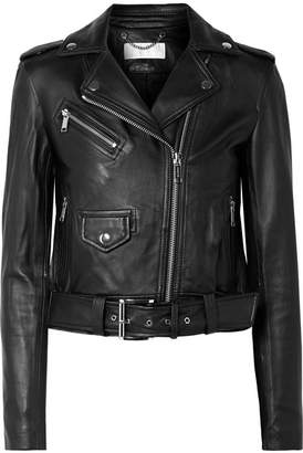MICHAEL Michael Kors Leather Biker Jacket - Black