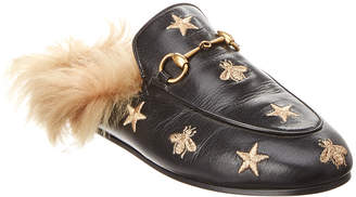 Gucci Princetown Bees & Stars Leather Slipper