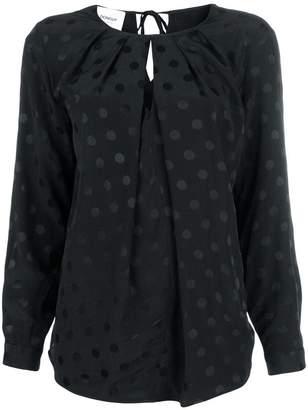 Dondup polka dot draped cut out blouse