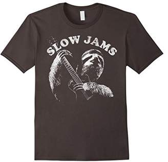 Sloth Playing Guitar Slow Jams Vintage Graphic T-Shirt