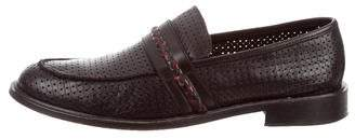 Bruno Magli Perforated Leather Round-Toe Loafers