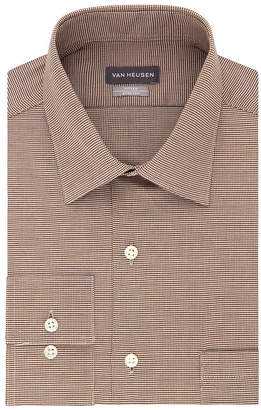 Van Heusen Vh Lux Sateen Ftd Stretch Long Sleeve Sateen Dress Shirt - Fitted