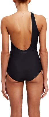 Acne Studios Karmo One Shoulder Swimsuit