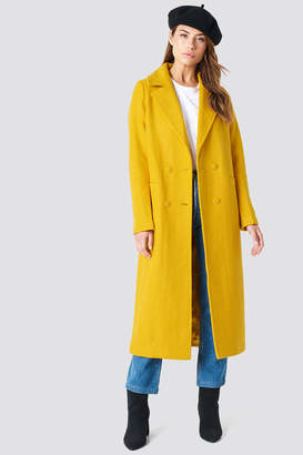 NA-KD Na Kd Double Breasted Long Coat Blue