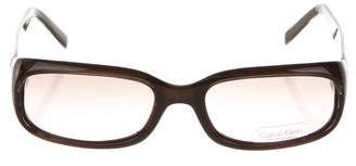 Calvin Klein Collection Square Shaped Sunglasses