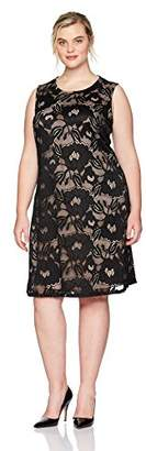 Nine West Women's Plus Size Floral Lace Dress