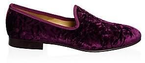 Del Toro Men's Velvet Embossed Loafers