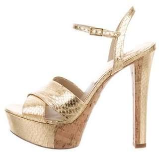 Michael Kors Metallic Crossover Sandals