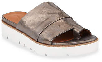 Gentle Souls Lavern Easy Metallic Slide Sandals