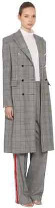 Calvin Klein Wool Prince Of Wales Coat