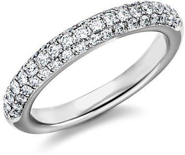 Pavé-Set Diamond Wedding Ring in Platinum (1/2 ct. tw.)