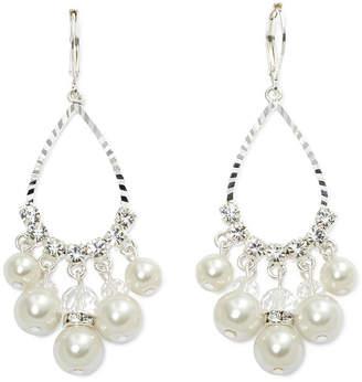 VIESTE ROSA Vieste Simulated Pearl & Crystal Teardrop Earrings