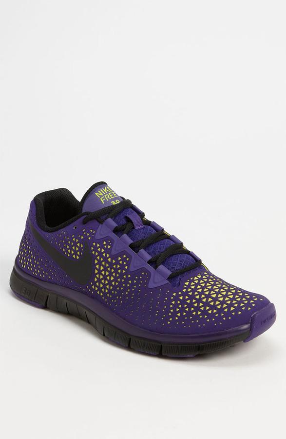 Nike 'Free Haven 3.0' Training Shoe (Men) Purple/ Black/ Electrolime 6 M