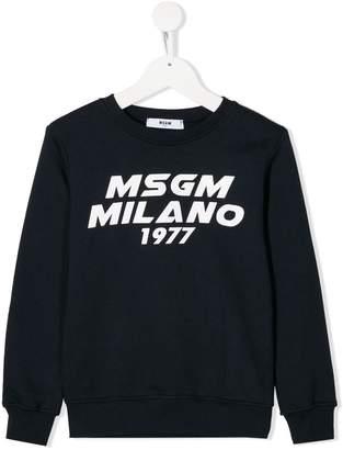 MSGM Kids long sleeved sweatshirt