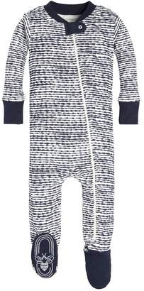 Burt's Bees Brush Strokes Organic Baby Zip Up Footed Pajamas