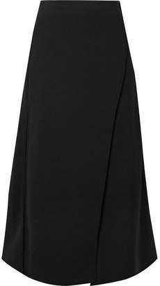 Beaufille - Luna Wrap-effect Jersey Midi Skirt - Black