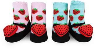 Waddle 2-Pack Strawberry Rattle Socks