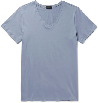 Hanro Superior Mercerised Stretch-Cotton T-Shirt $75 thestylecure.com