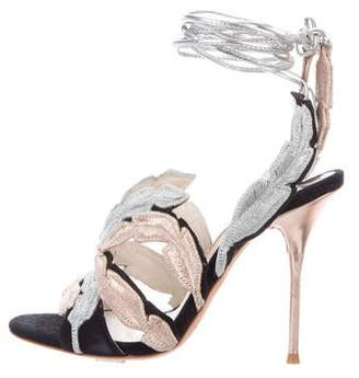 Sophia Webster Suede Metallic Sandals