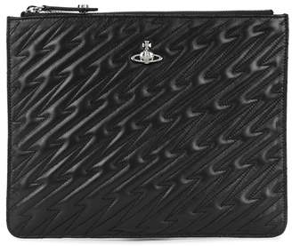 Vivienne Westwood Coventry Black Quilted Leather Pouch