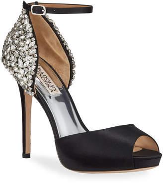 Badgley Mischka Vanity Crystal Embellished Peep-Toe Pumps