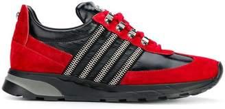 Balmain side zip low top sneakers