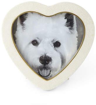 AERIN Cream Shagreen Heart Picture Frame