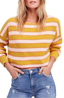 Free People Just My Stripe Sweater