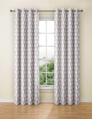 Marks and Spencer Hexagonal Geometrical Print Eyelet Curtains