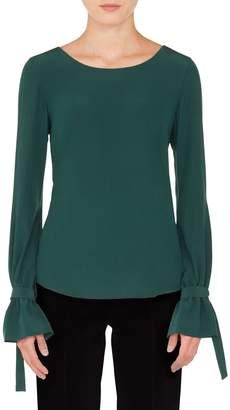 Akris Punto Tie Sleeve Silk Blouse