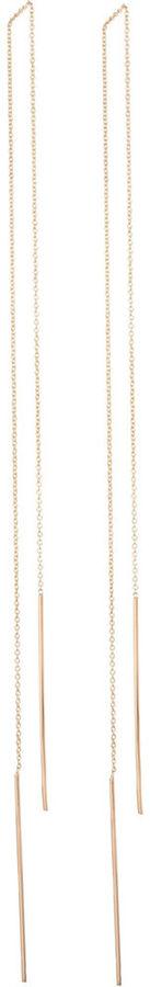 Jennifer Fisher Gold Extra Long Stick Chain Earrings