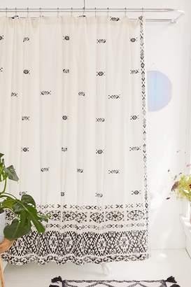 Fair Isle Border Gauze Shower Curtain