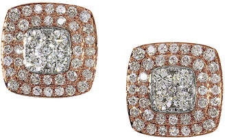 Effy Fine Jewelry 14K Two-Tone 0.85 Ct. Tw. Diamond Studs