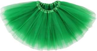 Simplicity 4 Layered Tutu Skirt for Girls,Green