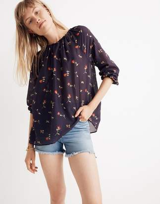 Madewell Duet Peasant Top in Sweet Blossoms