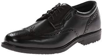 Rockport Men's LTP Wing Tip Black WP Leather Oxford 11 M (D)-11 M