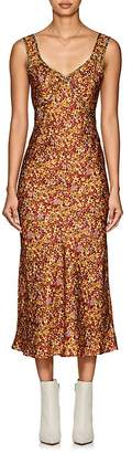 Land of Distraction Women's Floral Silk Slipdress