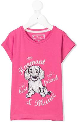 Harmont & Blaine Junior sequin logo T-shirt