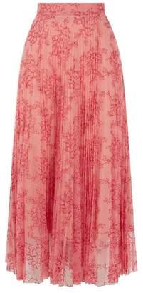 Burberry Pleated Lace Midi Skirt