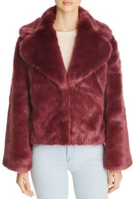 Unreal Fur Madam Butterfly Short Faux Fur Coat