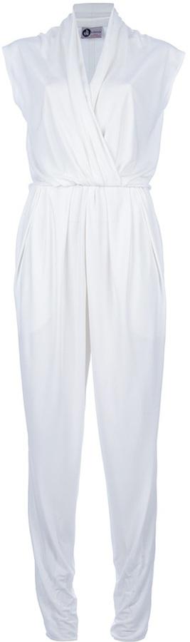 Lanvin pleated full length jumpsuit