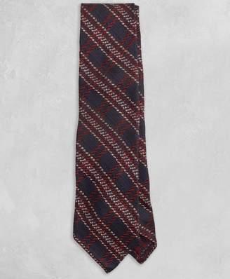 Brooks Brothers Golden Fleece Navy and Burgundy Plaid Tie