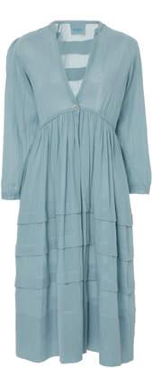 Loup Charmant Scallop Nova Cotton Midi Dress