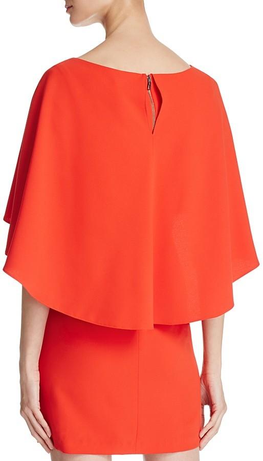 Alice + Olivia Cairo Tiered-Overlay Dress 3