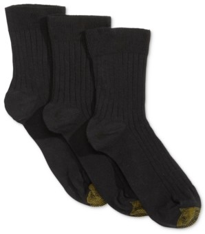 Gold Toe Women's 3 Pack Non-Binding Short Crew Socks, also available in Extended Sizes