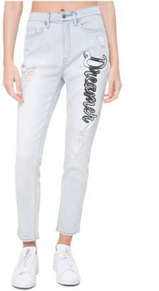 Juicy Couture Sequin Dreamer Patch Denim Girlfriend Jean