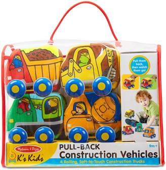 Melissa & Doug 4-Pack Pull Back Construction Vehicle Play Set