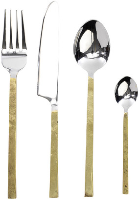 Nkuku Ista Cutlery - Set of 16 - Brushed Gold