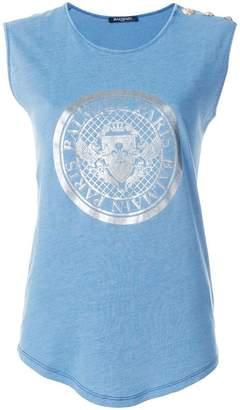 Balmain logo crest T-shirt