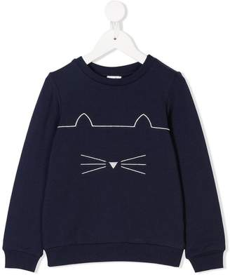 Karl Lagerfeld cat motif sweatshirt